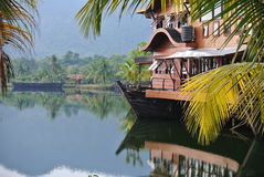 Tropical resort on the water. Water resort in Thailand, Koh Chang royalty free stock photo