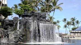Tropical Resort Waterfall stock video footage