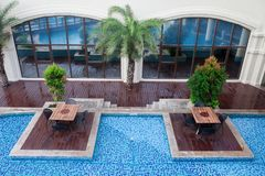 Free Tropical Resort With Swiming Pool Stock Photos - 109552003