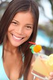 Tropical resort woman Stock Photography