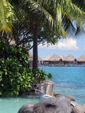 Tropical resorts. At French Polynesia Royalty Free Stock Photos
