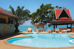 Tropical resorts pool Stock Images