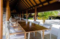 Tropical restaurant setup Royalty Free Stock Photo