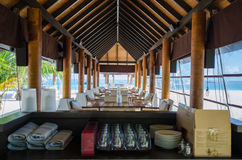 Tropical restaurant setup Stock Image