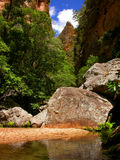 Tropical River. Madagascar, Isalo Park, natural park Royalty Free Stock Photography