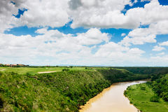 Tropical river Chavon in Dominican Republic Royalty Free Stock Photography