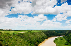 Tropical river Chavon in Dominican Republic Royalty Free Stock Photos