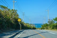 Tropical road view Stock Photo