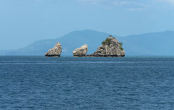 Tropical rock and island Royalty Free Stock Photography