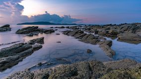 Tropical Rock Sea Beach View stock photo