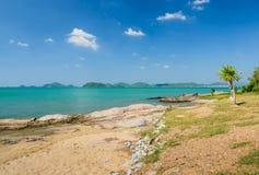 Tropical rock shore Royalty Free Stock Photo