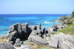 Tropical rocky coastline Royalty Free Stock Image