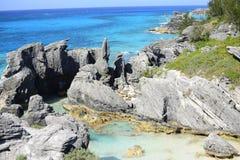 Tropical rocky coastline Stock Photo