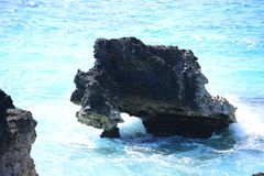 Tropical rocky coastline Stock Photos
