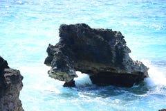 Tropical rocky coastline Stock Photos