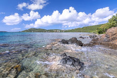 Tropical rocky point Royalty Free Stock Images