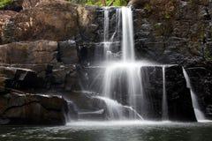 Tropical rocky waterfall Stock Image