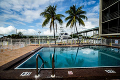Tropical rsort swimming pool Stock Photos