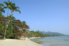 Tropical sand beach of Chang island Stock Images