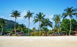Tropical sand beach Royalty Free Stock Photos