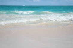 Tropical Sand Beach and Ocean Background Stock Photography