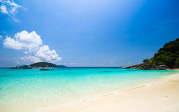 Tropical sand beach Royalty Free Stock Images