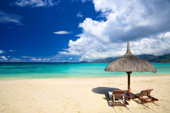 Tropical sand beach Royalty Free Stock Photo