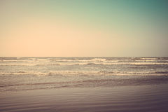 Tropical sand beach vintage retro Stock Photography