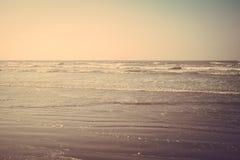 Tropical sand beach vintage retro Royalty Free Stock Photography
