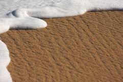 Tropical Sand and Sea Foam Stock Photo