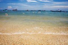Tropical sand seashore Stock Image