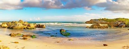 Tropical Sandy Beach on Caribbean Sea. Mexico. Tropical Sandy Beach on Caribbean Sea. Yucatan, Mexico Stock Photos