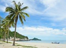 Tropical sandy beach of Hat Laem Sala Stock Photography