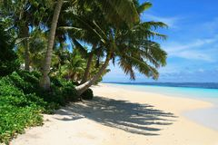 Manase beach in Samoa, Savai`i Island in South Pacific royalty free stock images