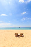 A Tropical sandy beach landscape Stock Photos