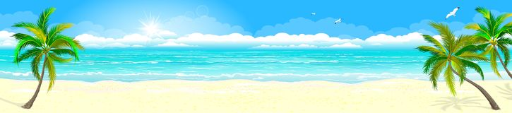 Tropical sandy beach and ocean 1 royalty free stock photography
