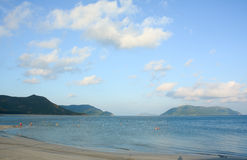 Tropical sandy beach at summer sunny day Stock Photography