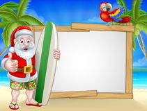 Tropical Santa Beach Background Stock Image