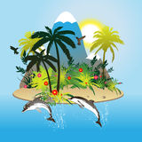 Tropical scene. For your background Stock Photography