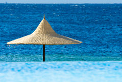 Tropical scene. With turquoise water Stock Images