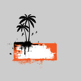 Tropical scene banner. For your message Stock Image
