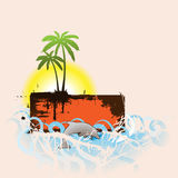 Tropical scene banner Royalty Free Stock Photos