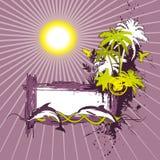 Tropical scene banner Stock Photos