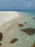 Tropical scene on seashore. In Thailand Stock Photo