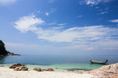Tropical scene on seashore. In Thailand,with panoramic image Stock Images