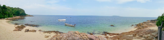 Tropical scene on seashore. In Thailand,with panoramic image Stock Image