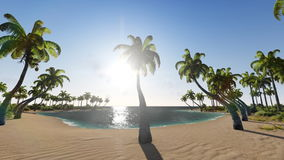 Tropical scene Sunrise Time Lapse. 3D animation stock video footage