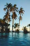 Tropical scenery on beach royalty free stock photo