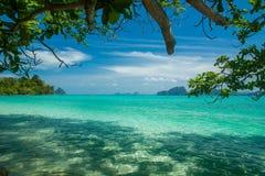 Tropical scenery. Beautiful Koh Kradan island, Trang Province. Thailand Royalty Free Stock Photos