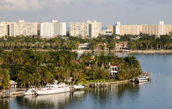 Tropical scenery from Miami, Florida Royalty Free Stock Image